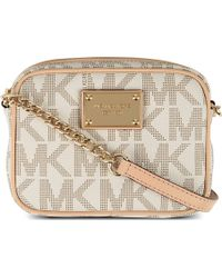 MICHAEL Michael Kors Jet Set Leather Over The Shoulder Handbag - For Women - Lyst