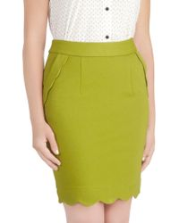 ModCloth Oiive Occasion Skirt green - Lyst