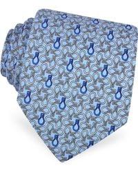 Moreschi - Horse Bits Printed Silk Tie - Lyst