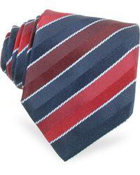 Moreschi - Regimental Woven Silk Tie - Lyst