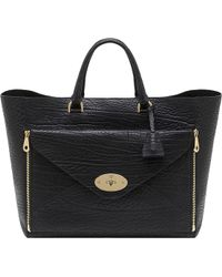 Mulberry | Willow Oversized Shrunken Leather Tote | Lyst