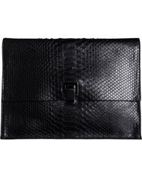 Proenza Schouler Large Lunchbag Clutch Python - Lyst