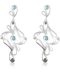 Sho London - Mari Splash Sterling Silver Drop Earrings - Lyst
