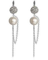 Swarovski - Liquid Pearl Long Earrings - Lyst