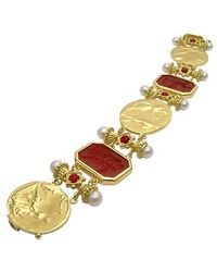 Tagliamonte - Classics Collection - 18k Gold And Ruby Link Bracelet - Lyst