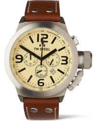 TW Steel - Canteen Tw5 Chronograph Watch - Lyst