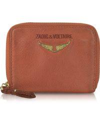Zadig & Voltaire - Mini Clous Leather Coin Purse - Lyst