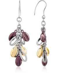 Zoppini - Coffee Collection - Stainless Steel Dangle Earrings - Lyst