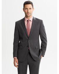 Banana Republic Classic Fit Charcoal Wool Suit Jacket Charcoal - Lyst