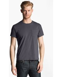 Grayers Blue Pocket Tshirt - Lyst