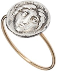 Laura Lee - Face Coin Ring - Lyst