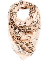 Mango Snake Skin Print Foulard - Lyst