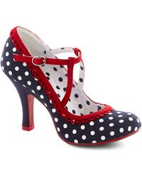 ModCloth Smart and Snazzy Heel in Polka Dot - Lyst