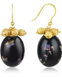Naoto - Alchimia - Oval Gold Foil Drop Earrings - Lyst