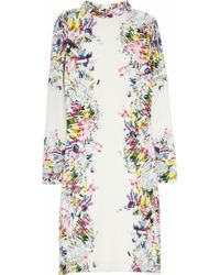 Erdem Felicia Printed Silk Dress - Lyst