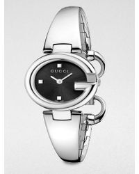 Gucci Stainless Steel Bangle Watch/Black silver - Lyst