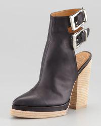 Jeffrey Campbell National Blockheel Leather Bootie Stylist Pick - Lyst
