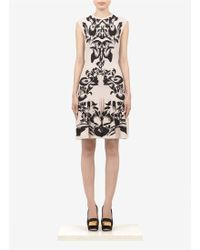 McQ by Alexander McQueen Intarsia Knitted Capsleeve Dress - Lyst