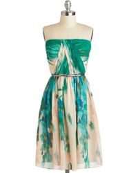 ModCloth Scenery At Sunset Dress in Forest - Lyst