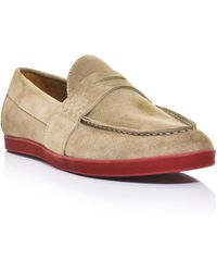 Moncler - Suede Loafers - Lyst