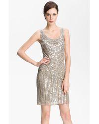 Pisarro Nights Embellished Scoop Neck Dress - Lyst