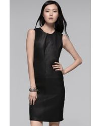 Theory Elowen Leather Dress - Lyst