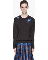 Christopher Kane Cashmere Embroidered Sweater - Lyst