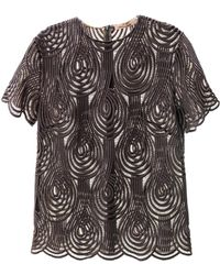 Christopher Kane Clef Lace T-Shirt - Lyst