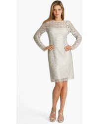 JS Collections Illusion Lace Dress - Lyst