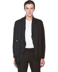 Alexander McQueen Bend Cardigan in Black - Lyst