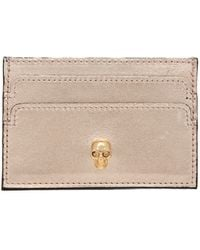 Alexander McQueen Soft Steel Card Holder in Metallics - Lyst
