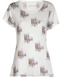 All Things Fabulous - Running Horses Tshirt - Lyst