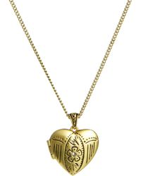 Cath Kidston - Engraved Heart Locket Necklace - Lyst