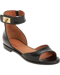 Givenchy Shark Tooth Ankle Strap Sandal - Lyst