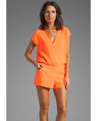 Line & Dot Romper in Orange - Lyst