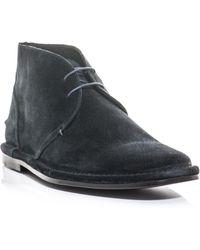 Paul Smith Parker Suede Boots blue - Lyst
