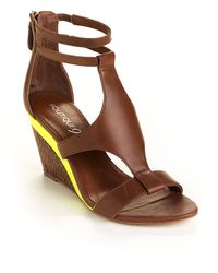 Boutique 9 - Petruchio Leather Wedge Sandals - Lyst