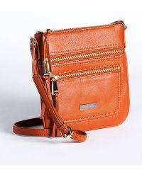 Calvin Klein - Pebbled Leather Crossbody Bag - Lyst