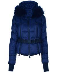 Moncler Grenoble Fur Trim Hood Padded Jacket - Lyst