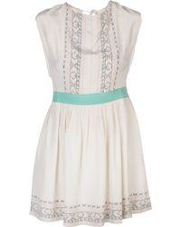 Lauren Moffatt - Sleeveless Short Dress - Lyst