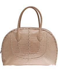 Alaïa Printed Croc Bowling Bag - Lyst
