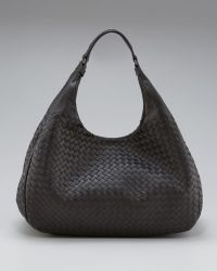 Bottega Veneta Double-Handle Veneta Hobo - Lyst