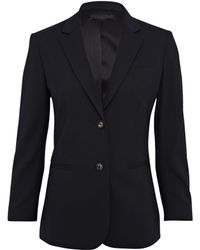 The Row Dark Navy New School Boy Wool-Blend Blazer - Lyst