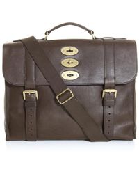 Mulberry Ted Leather Briefcase brown - Lyst