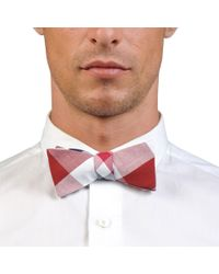 Title Of Work Blue And Red Gingham Bow Tie - Lyst