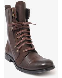 Forever 21 - Distressed Combat Boots - Lyst