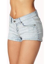 Forever 21 Embroidered Denim Shorts - Lyst