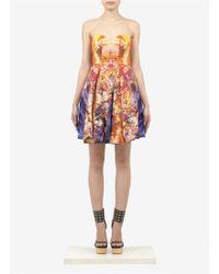 McQ by Alexander McQueen Sunset Print Bustier Dress - Lyst