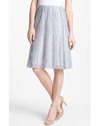 Nic + Zoe Batiste Flared Skirt Petite silver - Lyst
