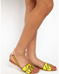 River Island - Peace Sign Anklet - Lyst